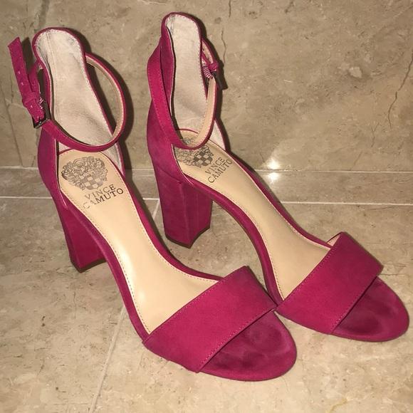 134b508b169b ... hot pink suede heels. M 5ac1a4eb6bf5a6ecb1b05a59